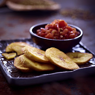 Fried Plantain with Tomato Relish