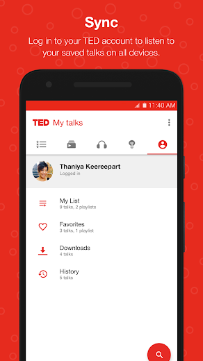 Screenshot 3 for TED's Android app'