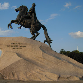Riding to reach sky by Pramesh Pokharel - Buildings & Architecture Statues & Monuments