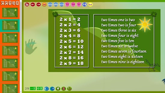 TIMES TABLES TWO LANGUAGES - náhled