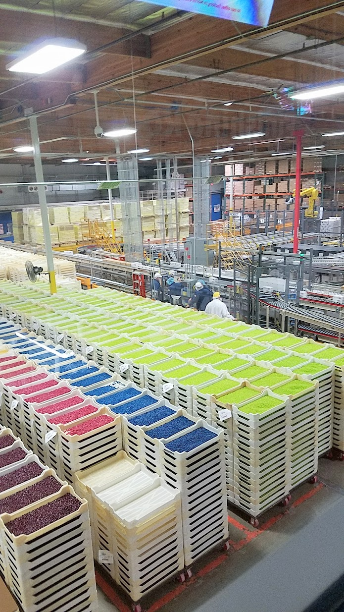 Jelly Belly Factory Tour in Fairfield, California: the rainbow of 50 flavors and more of Jelly Belly
