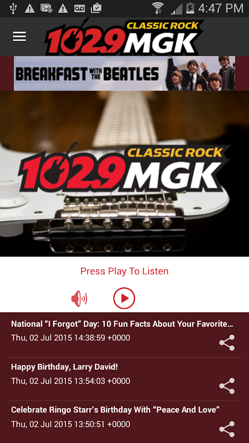 102.9 WMGK- screenshot