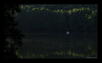 Photo: Days start early in the morning on the silent lake.