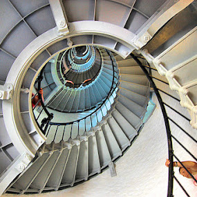 The Long Walk Down...Or Up! by Terry Davey - Buildings & Architecture Other Interior ( light house )