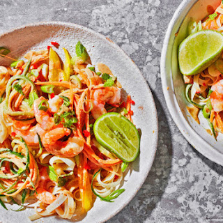 15-minute Prawn Satay Noodle Salad.