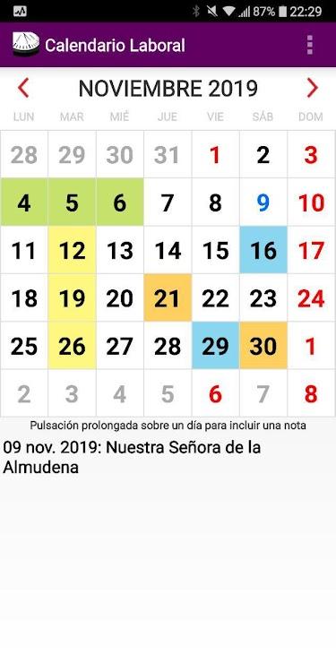 Calendario Laboral Espana 2019.Calendario Laboral Espana Con Festivos 2019 Android Aplicaciones