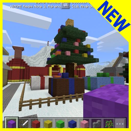 Christmas Town MCPE map.