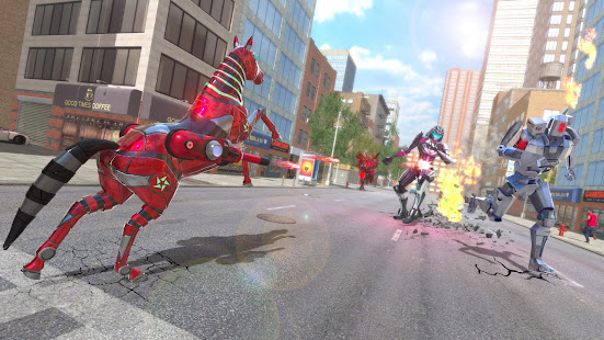 Download Super Horse Robot Transform: Flying Helicopter For PC Windows and Mac apk screenshot 2