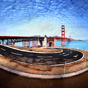 The bridge under the clouds by Jeff T - Travel Locations Landmarks ( facebook )