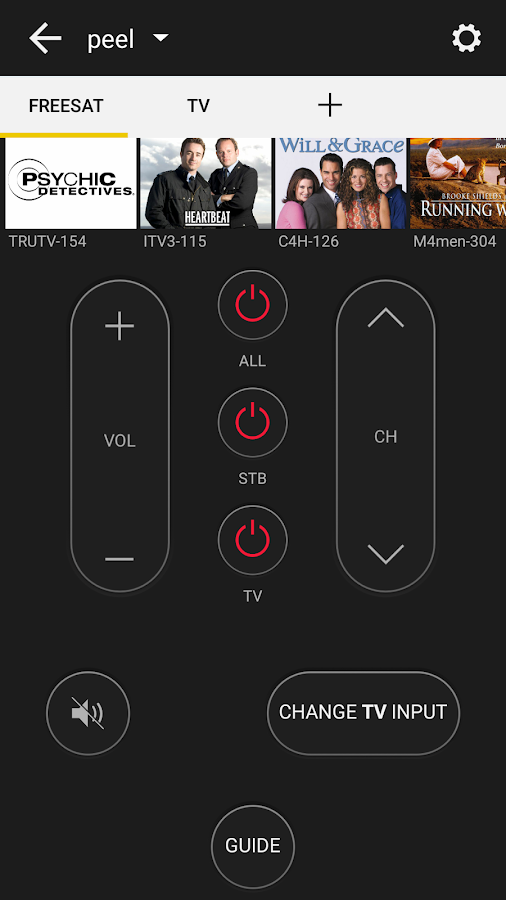 Peel Universal Smart Tv Remote Control Android Apps On