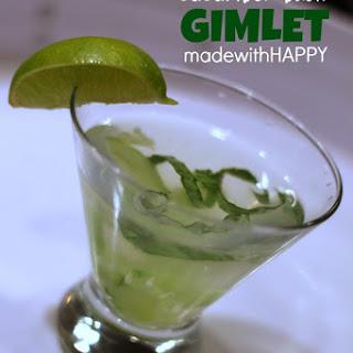 Basil Cucumber Gimlet.