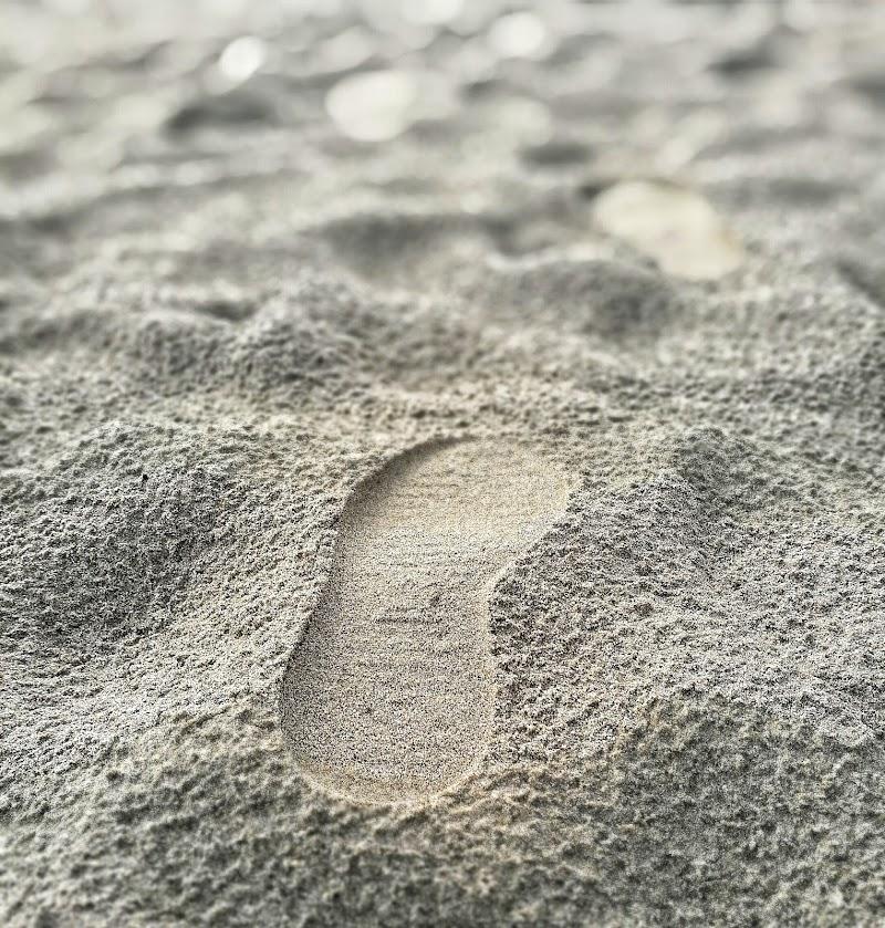 Orma su sabbia di ziospagno