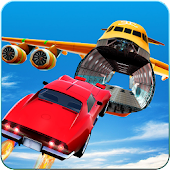 Jet Cars Stunts GT Racing Flying Car Racing Games