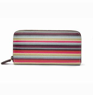 Stripe Clutch Wallet