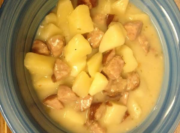 Crockpot Kielbasa Potato Soup