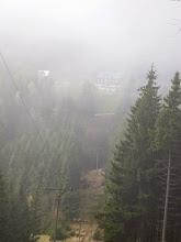 Photo: Lysečinská bouda - vzdélená 400 metrů. Tak taková je viditelnost.