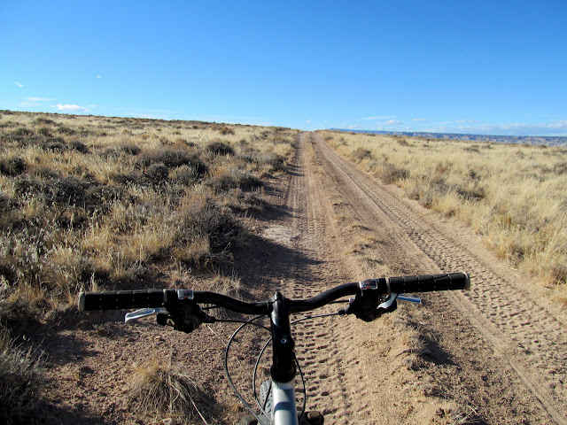 Riding the Horse Bench road over fresh ATV tracks