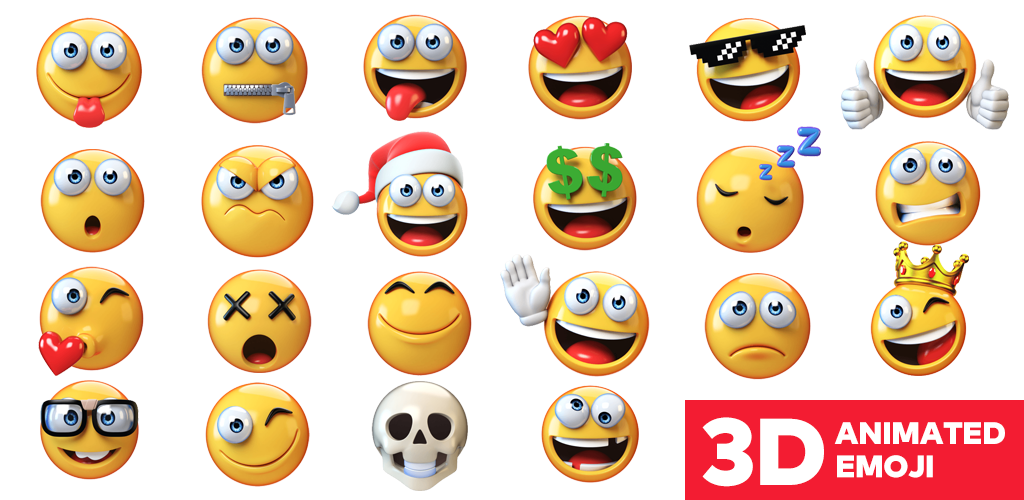 Download 3D Emojis Und Animierte Emoticons - Neue Emoji 2018 Apk ...