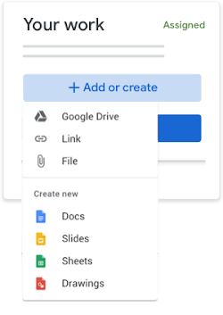 Add or create your work files