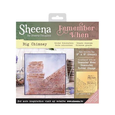 Sheena Douglass Remember When 8X8 Stencil - Big Chimney UTGÅENDE