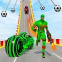Speed Hero Robot Ramp Bike Transform Robot Games icon