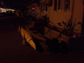 Photo: Éjszaka érkezem. A kajak még megvan... De mint kiderül, kissé megtörve.