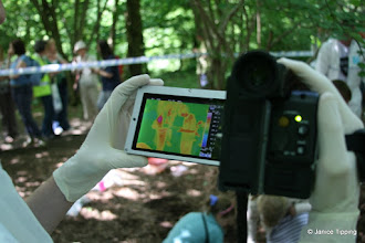Photo: Thermal imaging helps detect bugs in the 'crime scene'