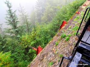 Photo: There were some steep drops along the way.