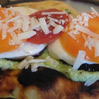 Eggplant Piadina with Pesto Spread Recipe