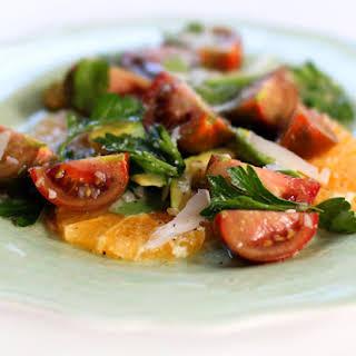 Florida Tangelo, Avocado & Heirloom Tomato Salad.