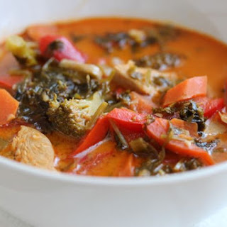 Easy Thai Red Curry Soup.