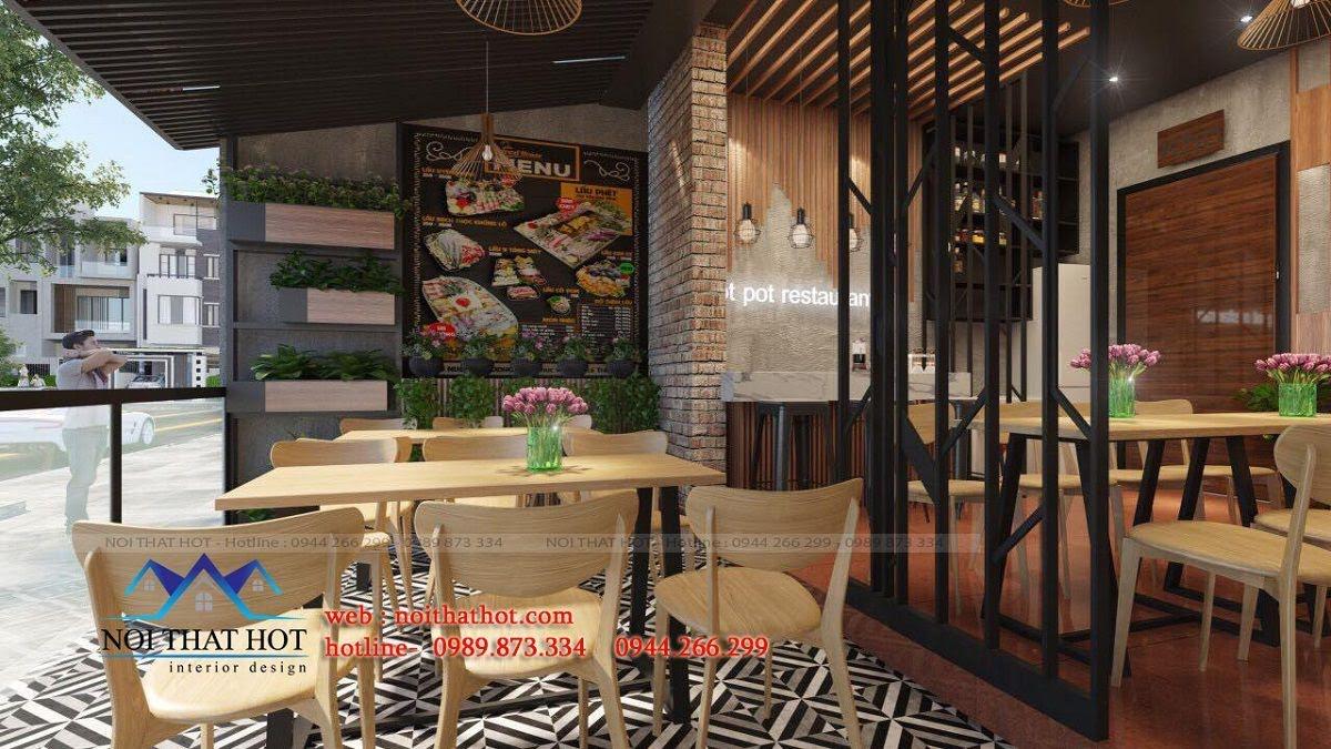 thiết kế nhà hàng lẩu nướng Đông Anh 4
