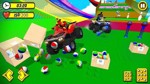 Quads Superheroes Stunts Racing 1.5 screenshots 1