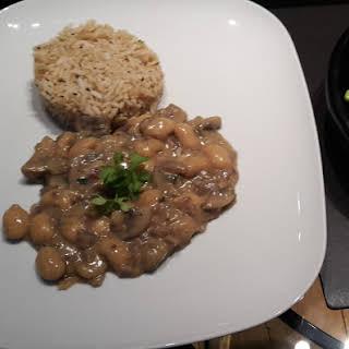 Mushroom & Butter Bean Stroganoff.