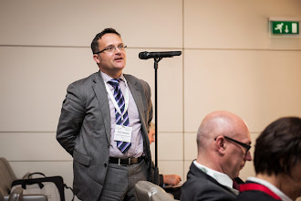 Photo: The Dredging Debate: An active audience contributes from the floor. In the picture Paris Sansouglou (EuDA,