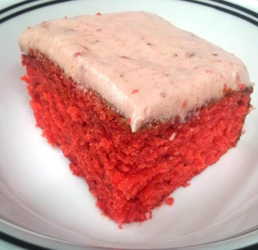 Moist Strawberry Cake Recipe Just A Pinch Recipes
