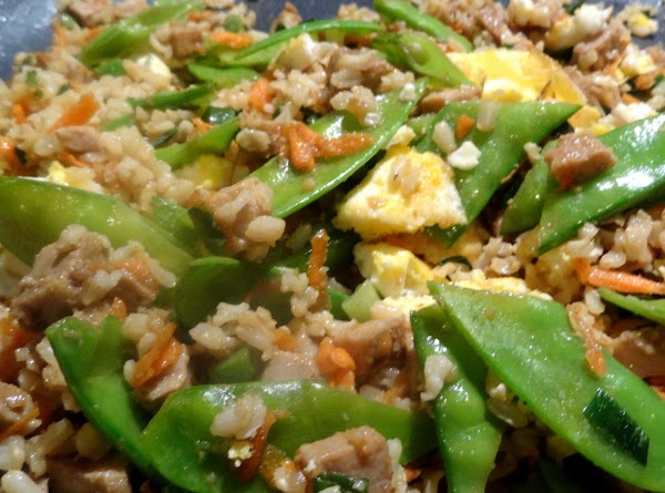 VEGETABLESScramble two eggs in a little canola oil and cut into strips and set...