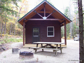 Photo: Exterior of Whitetail Cabin in Gifford Woods State Park