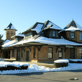 Yesteryear Train Station by Dawn Kiscadden - Buildings & Architecture Public & Historical