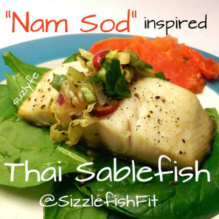 Nam Sod Inspired Spicy Thai Sable Fish (Black Cod)