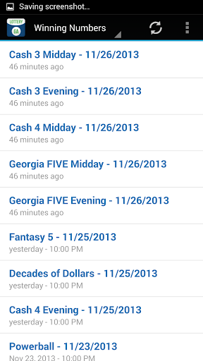 Georgia lottery cash 3 evening