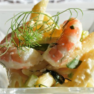 Shrimp Saffron Pasta Salad.