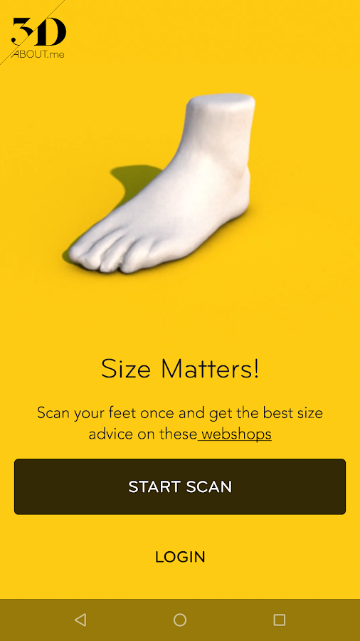 3Daboutme Footscanner - Virtual Fit by 3D aboutme- screenshot