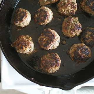 Minted Lamb Meatballs.