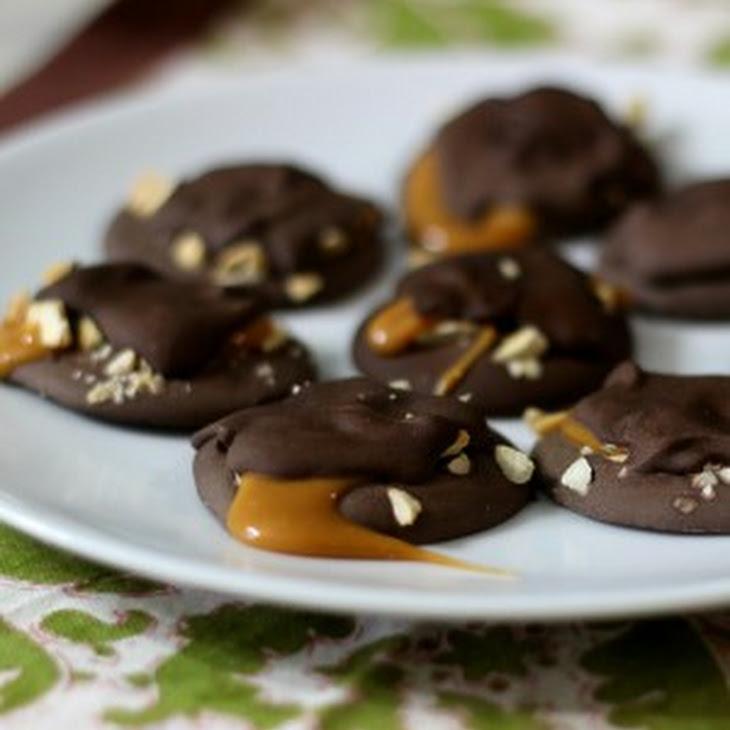 Dark Chocolate Caramel Turtles