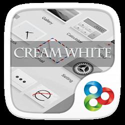 Cream White GO Launcher Theme