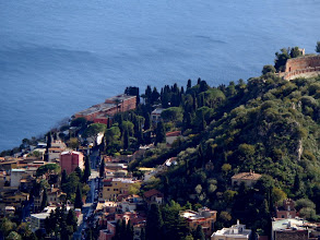 Photo: St George's  Taormina is down there bottom left beneath the pink building