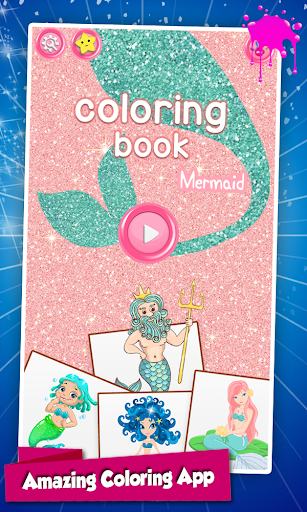 Mermaid Coloring Pages Glitter 1.0 screenshots 1