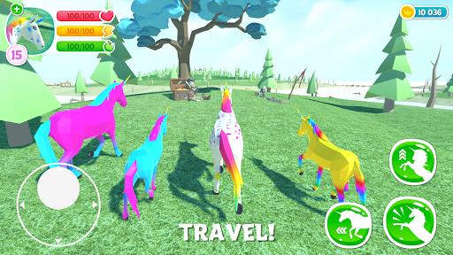 🦄 Unicorn Simulator Family Free 2-Wild Horse Game screenshots 2