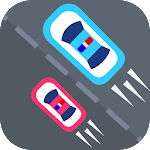Two police cars traffic racer Icon
